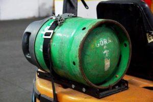 Butla gazowa w wózku widłowym, Awans B.H.P.