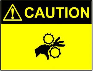 naklejka ostrzegawcza